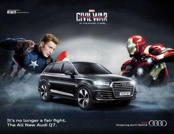 Khi tất cả các siêu anh hùng đều chọn xe Audi