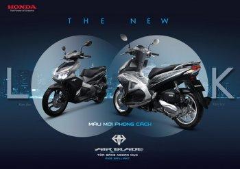 Thêm 2 lựa chọn màu mới cho xe Air Blade 125cc