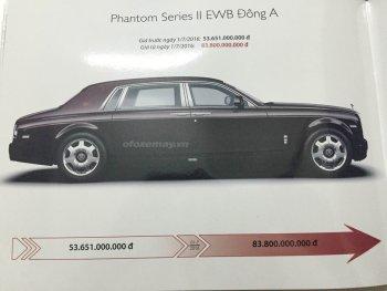 Rolls-Royce Phantom phiên bản đặc biệt có giá hơn 80 tỷ đồng, do đâu?
