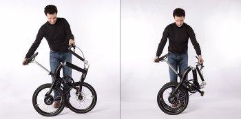 Xe đạp gấp độc đáo bằng một nút bấm