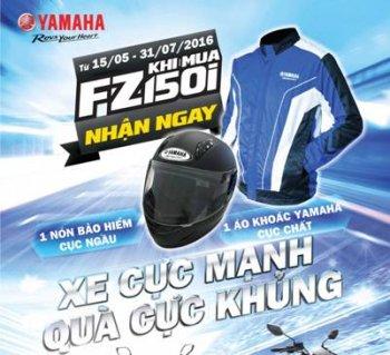 Yamaha bán FZ150i tặng kèm mũ, áo