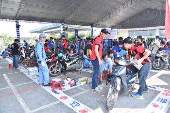 Ngày chăm sóc xe máy miễn phí ở Vĩnh Long