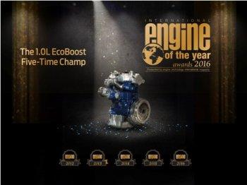 Ford 1.0L EcoBoost lần thứ 5 được vinh danh là động cơ của năm
