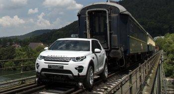 Xem Land Rover Discovery kéo đoàn tàu 100 tấn