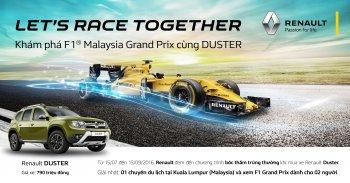 Renault Việt Nam tặng vé xem đua F1 cho khách mua xe