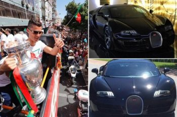 Ronaldo tự thưởng siêu xe Bugatti Veyron cho chức vô địch Euro
