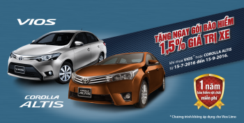 Toyota Việt Nam kích cầu cho Vios và Altis