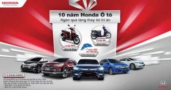 Mua xe ô tô Honda rút thăm trúng thưởng xe máy SH Mode và Vision