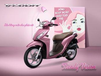 Honda Vision thêm sắc hồng cho phái đẹp