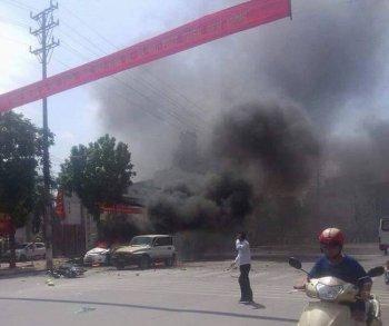 Quảng Ninh: Ôtô phát nổ, 2 người chết