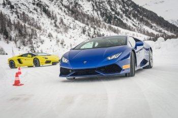 Lamborghini Việt Nam tặng khách khóa học lái xe trên băng