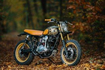 """Kawasaki W650 """"đầy mực"""" của Schlachtwerk"""