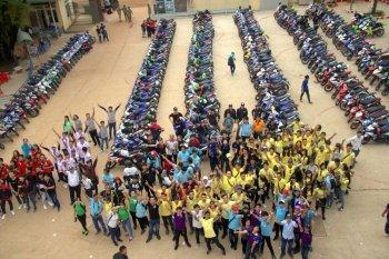 Hơn 400 xe Exciter độ dự sinh nhật CLB Exciter Đồng Xoài