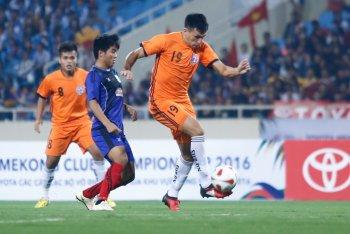 Trận bóng đẹp giữa SHB Đà Nẵng và Yadanarbon trên Mỹ Đình