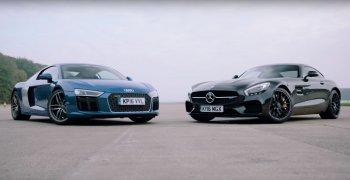 Audi R8 V10 hay Mercedes-AMG GT S mạnh hơn?