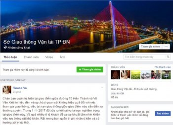 Sở Giao thông vận tải Đà Nẵng lập Facebook tiếp nhận góp ý