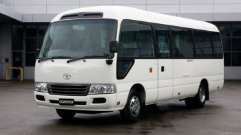 Toyota Coaster làm xe buýt để giảm ùn tẵc tại Đà Nẵng