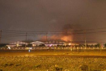 Nhà máy ôtô Trường Hải bất ngờ cháy lớn