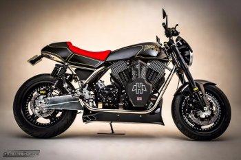 Hesketh tung mô tô siêu nạp Valiant dung tích 2100cc