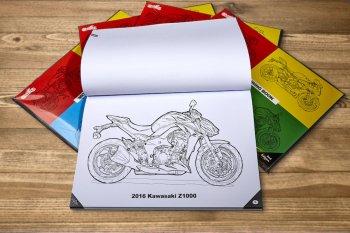 Sách tô màu mô tô – quà tặng ý nghĩa cho các biker