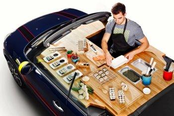 MINI Convertible thành cửa hàng thực phẩm di động