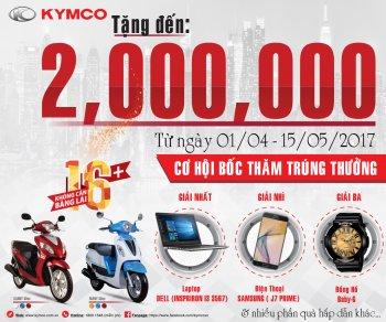 Kymco tung gói quà tặng hấp dẫn khi mua xe Many 50cc và Candy 50cc