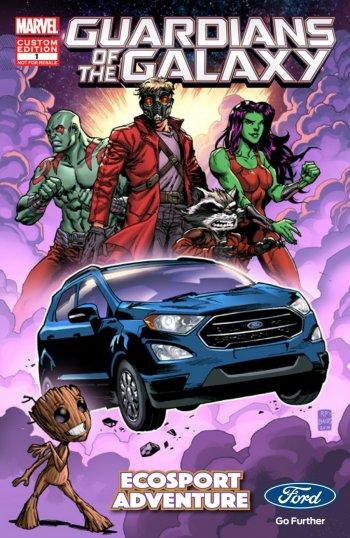 """Ford Ecosport tỏa sáng trong """"Vệ binh dải ngân hà 2"""""""