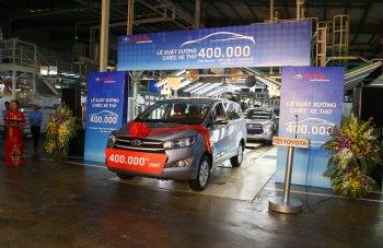 Innova là chiếc xe thứ 400.000 được Toyota Việt Nam xuất xưởng