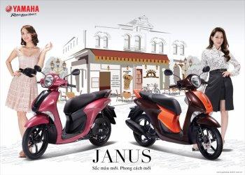"""Yamaha Janus Premium thêm 2 màu mới cho """"phái đẹp"""""""