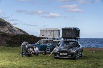 Xe Mini biến hình ra lều cắm trại