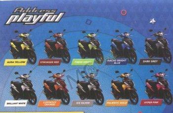 Suzuki Address Playful 2017 có tới 10 lựa chọn màu sắc