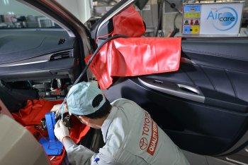 10.000 lượt xe đã sử dụng dịch vụ vệ sinh dàn lạnh của Toyota Việt Nam