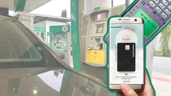Tài xế trả tiền xăng qua ứng dụng di động