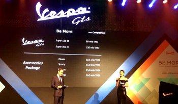 Vespa GTS 125/300cc chính thức ra giá RẺ choáng váng, 89 và 120 triệu đồng