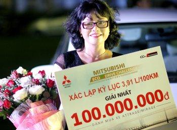 Mitsubishi Attrage tiết kiệm xăng với kỷ lục 3,91 Lít/100km