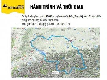 Biker Việt sắp lái môtô Adventure vượt núi thánh châu Âu