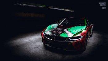 """BMW i8 phong cách Joker """"Biệt đội cảm tử"""""""