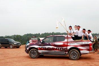 Những màn cổ động tưng bừng của dàn xe colorado tại VOC 2017