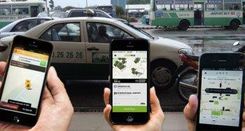 """Taxi truyền thống đòi """"dẹp"""" Uber, Grab"""