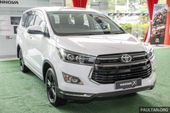 Toyota Innova 2.0X có giá 31,5 nghìn USD tại Malaysia