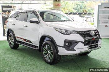 Toyota giới thiệu Fortuner phiên bản nâng cấp tại Malaysia