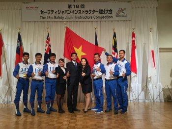 Honda Việt Nam đạt thành tích cao tại Hội thi lái xe an toàn quốc tế