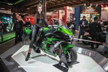 Cận cảnh môtô siêu nạp Kawasaki Ninja H2 SX độc nhất EICMA 2017