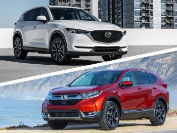 """""""Đặt lên bàn cân"""" Honda CR-V7 chỗ và Mazda CX-5 mới"""