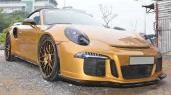 Porsche 911 Turbo S mui trần cực hiếm độ dàn áo đón Noel Sài Gòn