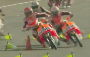 Marquez và Pedrosa xả hơi với màn đua Cub 110