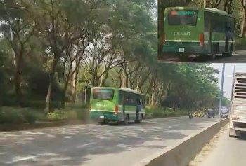 Xử phạt xe buýt bất chấp nguy hiểm chạy ngược chiều tại TP.HCM
