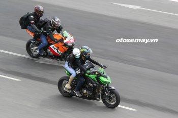 Cận cảnh bài thi thực hành cấp bằng lái mô-tô hạng A2