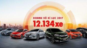 Honda Việt Nam lập kỷ lục bán xe năm 2017