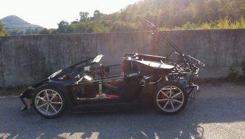 """Nông dân tự chế """"siêu bò"""" Lamborghini chạy bằng động cơ xe môtô"""
